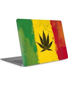 Marijuana Rasta Distressed Apple MacBook Air Skin