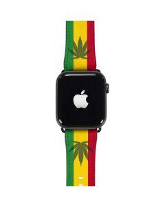 Marijuana Rasta Flag Apple Watch Band 42-44mm