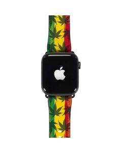 Marijuana Rasta Pattern Apple Watch Band 42-44mm