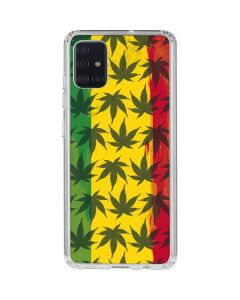 Marijuana Rasta Pattern Galaxy A51 Clear Case