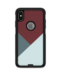 Marsala Triangle Shapes Otterbox Commuter iPhone Skin