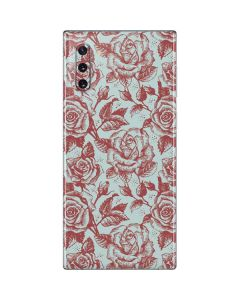 Marsala White Rose Galaxy Note 10 Skin