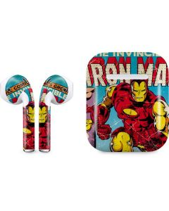Marvel Comics Ironman Apple AirPods Skin