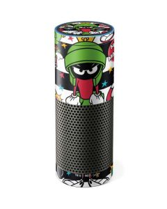 Marvin the Martian Striped Patches Amazon Echo Skin
