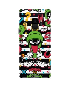 Marvin the Martian Striped Patches Galaxy S9 Skin