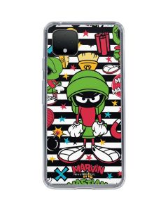 Marvin the Martian Striped Patches Google Pixel 4 Clear Case