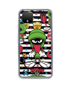 Marvin the Martian Striped Patches Google Pixel 4 XL Clear Case