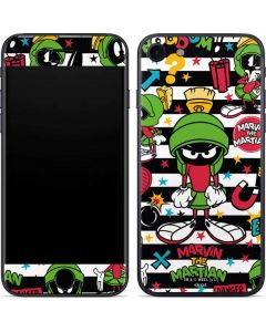Marvin the Martian Striped Patches iPhone SE Skin