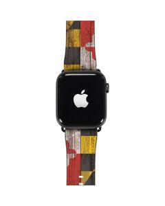 Maryland Flag Dark Wood Apple Watch Band 42-44mm