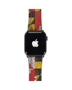 Maryland Flag Dark Wood Apple Watch Case