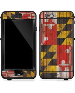 Maryland Flag Dark Wood LifeProof Nuud iPhone Skin