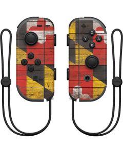 Maryland Flag Dark Wood Nintendo Joy-Con (L/R) Controller Skin