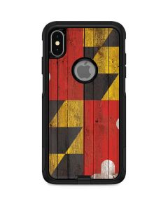 Maryland Flag Dark Wood Otterbox Commuter iPhone Skin