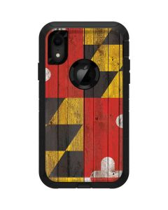 Maryland Flag Dark Wood Otterbox Defender iPhone Skin
