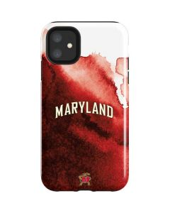Maryland Red Marble iPhone 11 Impact Case