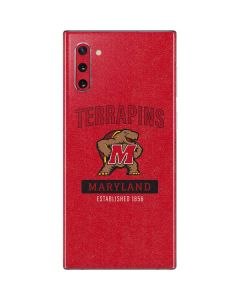 Maryland Terrapins Established 1856 Galaxy Note 10 Skin