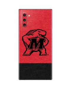 Maryland Terrapins Red Split Galaxy Note 10 Skin