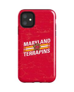 Maryland Terrapins Stripes iPhone 11 Impact Case
