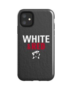Maryland Terrapins White and Red iPhone 11 Impact Case
