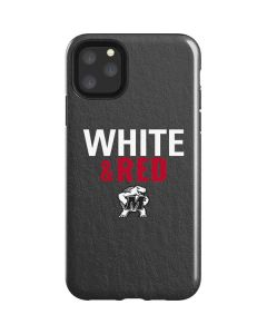 Maryland Terrapins White and Red iPhone 11 Pro Max Impact Case