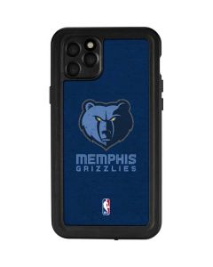 Memphis Grizzlies Distressed iPhone 11 Pro Max Waterproof Case