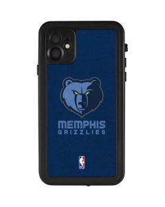 Memphis Grizzlies Distressed iPhone 11 Waterproof Case