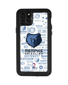 Memphis Grizzlies Historic Blast iPhone 11 Pro Max Waterproof Case