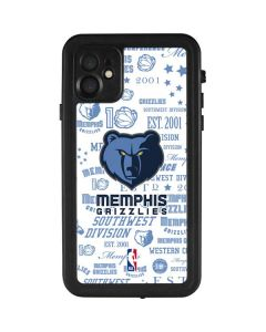 Memphis Grizzlies Historic Blast iPhone 11 Waterproof Case