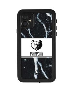 Memphis Grizzlies Marble iPhone 11 Waterproof Case