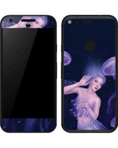 Mermaid and Jellyfish Google Pixel Skin