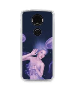 Mermaid and Jellyfish Moto E5 Plus Clear Case