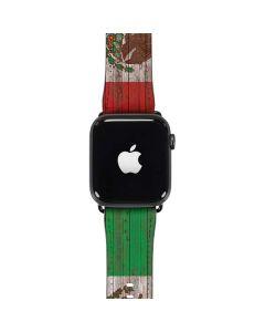 Mexican Flag Dark Wood Apple Watch Band 42-44mm