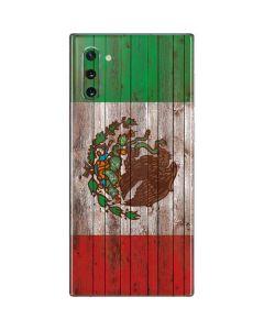 Mexican Flag Dark Wood Galaxy Note 10 Skin