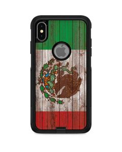 Mexican Flag Dark Wood Otterbox Commuter iPhone Skin