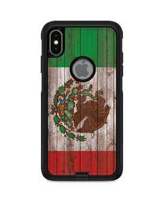 Mexican Flag Dark Wood Otterbox Commuter iPhone Skin