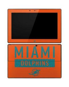 Miami Dolphins Orange Performance Series Surface RT Skin