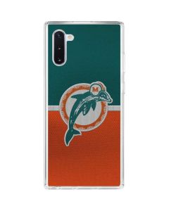 Miami Dolphins Vintage Galaxy Note 10 Clear Case