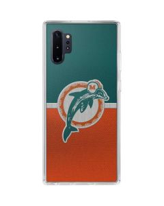 Miami Dolphins Vintage Galaxy Note 10 Plus Clear Case