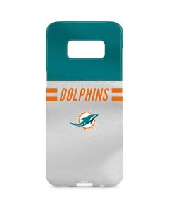 Miami Dolphins White Striped Galaxy S8 Plus Lite Case