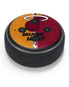 Miami Heat Canvas Amazon Echo Dot Skin