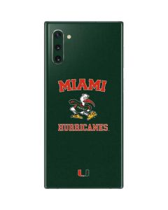Miami Hurricanes Distressed Galaxy Note 10 Skin