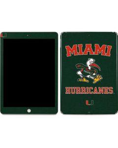 Miami Hurricanes Distressed Apple iPad Skin