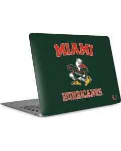 Miami Hurricanes Distressed Apple MacBook Air Skin