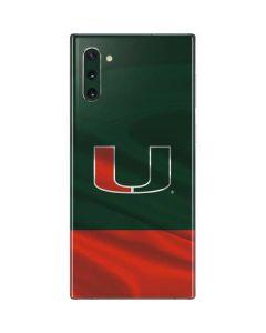 Miami Hurricanes Flag Galaxy Note 10 Skin