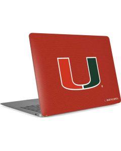 Miami Hurricanes Jersey Apple MacBook Air Skin