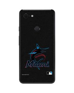 Miami Marlins Alternate Distressed Google Pixel 3 XL Skin