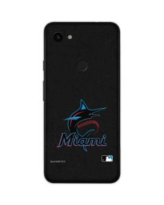 Miami Marlins Alternate Distressed Google Pixel 3a Skin