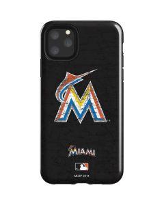 Miami Marlins Alternate Distressed iPhone 11 Pro Max Impact Case