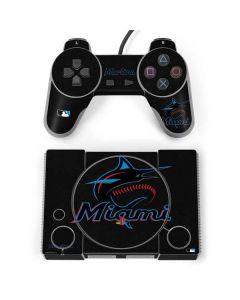 Miami Marlins Alternate Distressed PlayStation Classic Bundle Skin