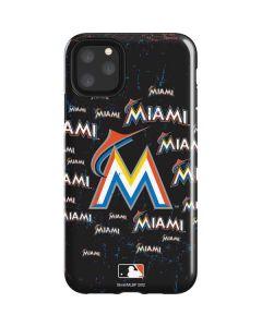 Miami Marlins Cap Logo Blast iPhone 11 Pro Max Impact Case